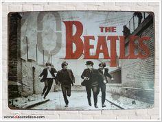 "Chapa de metal vintage ""The Beatles"" - DECORATECA.COM"