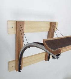 Bicycle Parts & Reclaimed Wood Bike Rack