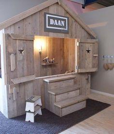 14 tolle DIY Ideen für Kinderbetten aus Holzpaletten! - DIY Bastelideen