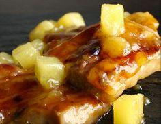 Costillitas en salsa de piña picante