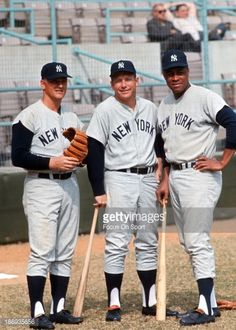 Roger Maris, Mickey Mantle & Elston Howard
