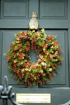 Euro Craft Wreath Hanger for Front Door Hanger Over The Door Wreath Hanger Christmas Door Hanger Hook Nickel Pineapple D/écor 14