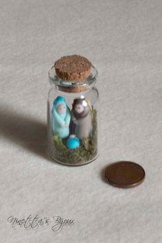 Miniature polymer clay Nativity scene by NinettaBijoux on Etsy