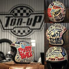 Mad custom helmet!#countdown #to #dustytrack #drag #edition #art #by @capelosgarage #and #helmet #powered #by #tonupgarage