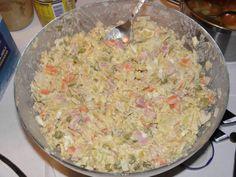Bramborový salát s domácí kyselou zeleninou