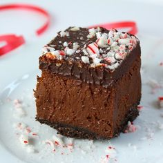 Chocolate Peppermint Cheesecake Bars