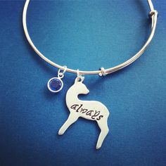 Always Doe Patronus Adjustable Bangle Bracelet Handmade