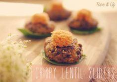 Juicy Burgers :) You'll love these Crispy Lentil Sliders!