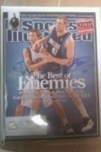 "Sports Illistrated Apr 23 ""07"" Duel Auto by Steve Nash Pheonix Suns & Dirk Nowitzki NBA Dallas Mavs. Free Shipping"