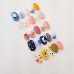 Discover recipes, home ideas, style inspiration and other ideas to try. Pretty Nail Art, Cute Nail Art, Cute Nails, Korean Nail Art, Korean Nails, Nail Swag, Glitter Nail Art, Gel Nail Art, Kawaii Nails