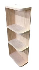 Whatnot wall shelf unfinished oak 30 quot high add to 48 quot base and