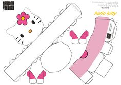 1000 images about free kawaii papercraft on pinterest for Hello kitty cut out template
