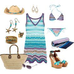 """Missoni Purple & Aqua"" by Coastal Style Blog"