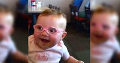 Baby Girl Is Happy To See Clearly For The First Time With Her New Glasses via LittleThings.com