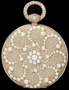 Gold Pocket Watch Set With Pearls - France, Possibly Switzerland c.1822-1838