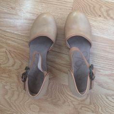 OTBT Shoshone Women's Dress Shoe Platform wedge dress shoe. Fine leather upper with round moc toe and adjustable strap. OTBT Shoes Heels