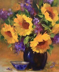 You Are My Sunshine Sunflowers by Nancy Medina Oil ~ 20 x 16 $525