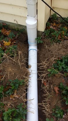 Discharge Sump Pump To Gutter System With Freeze Stop