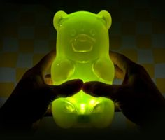gummy bear lamp...This would be great for your gummy addiction @Sarah Higginbotham