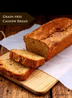Grain-free Cashew Bread Grain free bread grain free bread recipes gluten free bread gluten free bread recipes paleo bread paleo bread recipes Most popular Pinterest. DAILY Updates ☺♥☺ #carbswitch carbswitch,com Please Repin :)