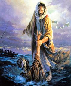 I like this illustration of Jesus walking on the water...