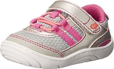 Stride Rite Girl's Solana (Little Kid/Big Kid) Silver/Pin...