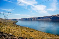 """""""Columbia River Gorge Power Lines"""" Power lines follow the Columbia River Gorge in Washington. Buy now here: http://fineartamerica.com/featured/columbia-river-gorge-power-lines-tristina-yarzombek.html Buy now here: http://fineartamerica.com/featured/purple-phlox-paniculata-tristina-yarzombek.html Follow me on Google+ https://plus.google.com/u/0/+TristinaYarzombek/photos/p/pub Follow me on Twitter: https://twitter.com/tristinaphotos Follow me on Facebook! https://www.facebook.com/tristinaphoto"""