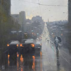 Australian painter Mike Barr focuses his work almost exclusively on rainy cityscapes, the moments of hazy gray that become illuminated by a city's cars and traffic lights. There is a unity fo…