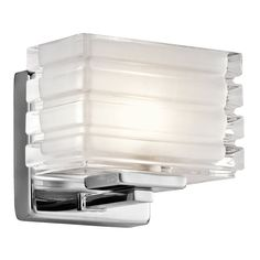 """Kichler 45477 Bazely 6"""" Wide 1 Light Wall Sconce Chrome Indoor Lighting Wall Sconces"""