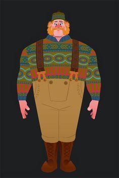 Oaken concept art. Costume Design in Animation - Disney's Frozen - Tyranny of Style