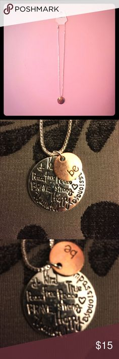 """New! """"Be"""" Necklace with Inspirational Message New! Fashion Jewelry Necklace with Inspirational Message Fashion Jewelry Jewelry Necklaces"""