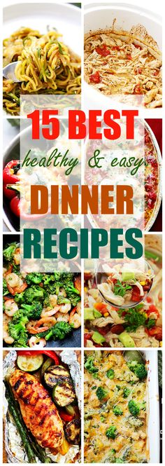 15 Best Healthy and Easy Dinner Recipes - Kicking off the New Year will be super easy with these fresh and healthy dinner recipes on hand. Guilt-free dinners will be on your table in no time!