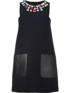 embellished shift dress £1,710 #farfetch #cute #FendiDresses