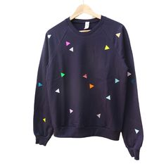 Sweater Triangle navy ADULTS / pom berlin