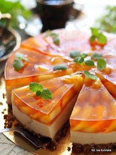 Smaczna Pyza: Ciasto bez pieczenia. Torcik piankowy z brzoskwini...