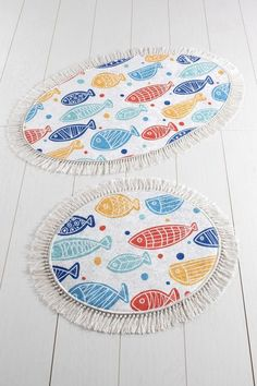 Set 2 Covorase de Baie - Multicolour Peste – Bonlavie Beach Mat, Outdoor Blanket