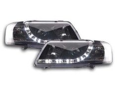 Audi a3 #(1995-2000) #black drl devil angel eyes front #headlights lights - pair,  View more on the LINK: http://www.zeppy.io/product/gb/2/351522566088/