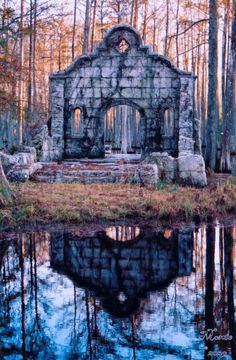 The mission in the swamp, from The Patriot with Mel Gibson. The set was at Cypress Gardens in Moncks Corner