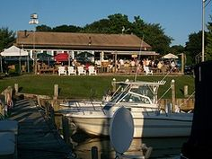 Standing on the docks behind Senix Creek Inn located in Center Moriches, Long Island, New York.