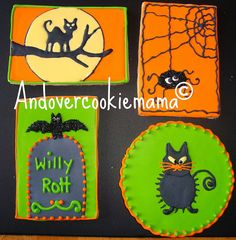 Halloween Cookies 2010 by Andovercookiemama, via Flickr