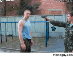 How to disarm a man with a gun  #gif #disarm #animated