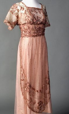 Evening Dress c.1911-1915 French Smith College Historic Costume Collection