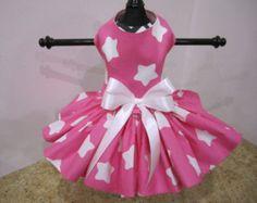Dog Dress  XS Hot Pink Little Flowers By by NinasCoutureCloset