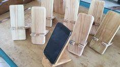 Resultado de imagem para descanso de celular madeira
