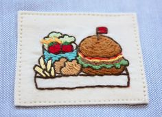 Diy Patches, Beaded Embroidery, Food Art, Happy Birthday, Crafty, Stitch, Sewing, Crochet, Coaster