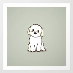 Buy Shih Tzu and Maltese Mix Puppy Illustration Art Print by Li Kim Goh. Worldwide shipping available at Society6.com. Just one of millions of high quality products available.