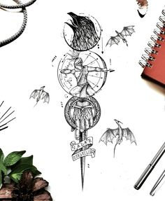 Tattoo Design Drawings, Tattoo Sketches, Tattoo Designs Men, Little Tattoos, Mini Tattoos, Tattoos For Guys, Piercing Tattoo, Piercings, Compass Vector