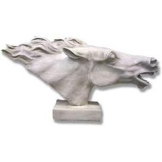 Horse Head (Against The Wind) Garden Animal Statue – XoticBrands Garden Animal Statues, Garden Animals, Garden Statues, Elephant Sculpture, Lion Sculpture, Hedgehog Animal, Greyhound Art, Wildlife Safari, Horse Jewelry
