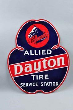 Dayton Tire Service Station Porcelain Sign