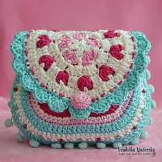 Hearts Purse Crochet Pattern - http://pinterest.com/Allcrochet